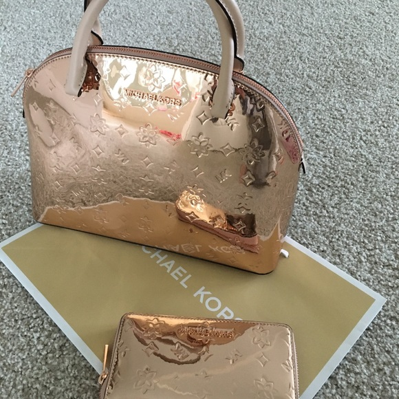 Michael Kors satchel and wallet NWT